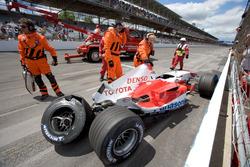 Ralf Schumacher, Toyota TF105 crashes