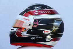 Le casque de Charles Leclerc, Sauber