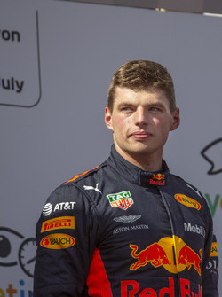 Max Verstappen, Red Bull Racing on the podium