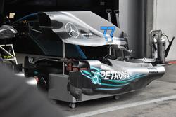 Mercedes AMG F1 W09 motor y cubierta lateral