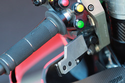 Bike of Jorge Lorenzo, Ducati Team, thumb operated rear brake lever
