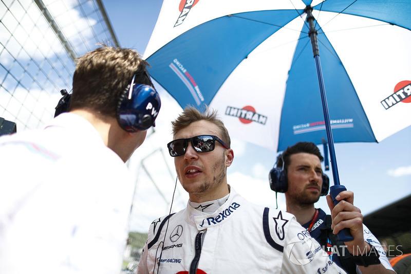 Sergey Sirotkin, Williams Racing, on the grid
