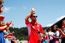 Sebastian Vettel, Ferrari, Desfile de pilotos