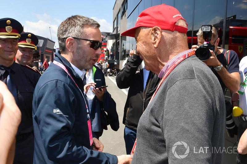 Niki Lauda, Presidente non esecutivo, Mercedes AMG F1 e Herbert Kickl, Ministro degli Interni austriaco
