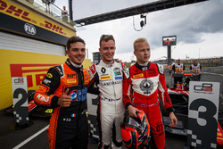 Race winner Dorian Boccolacci, MP Motorsport, second place Anthoine Hubert, ART Grand Prix, third place Nikita Mazepin, ART Grand Prix