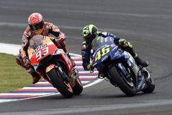 L'incidente tra Marc Marquez, Repsol Honda Team, e Valentino Rossi, Yamaha Factory Racing