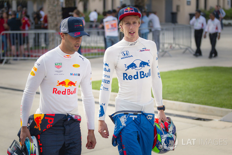 Daniel Ricciardo, Red Bull Racing y Brendon Hartley, Scuderia Toro Rosso