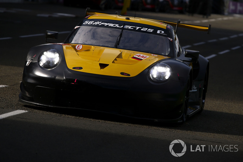#56 Team Project 1 Porsche 911 RSR: Jorg Bergmeister, Patrick Lindsey, Egidio Perfetti, Nick Yelloly