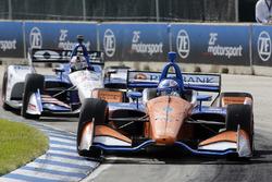 Scott Dixon, Chip Ganassi Racing Honda, Graham Rahal, Rahal Letterman Lanigan Racing Honda