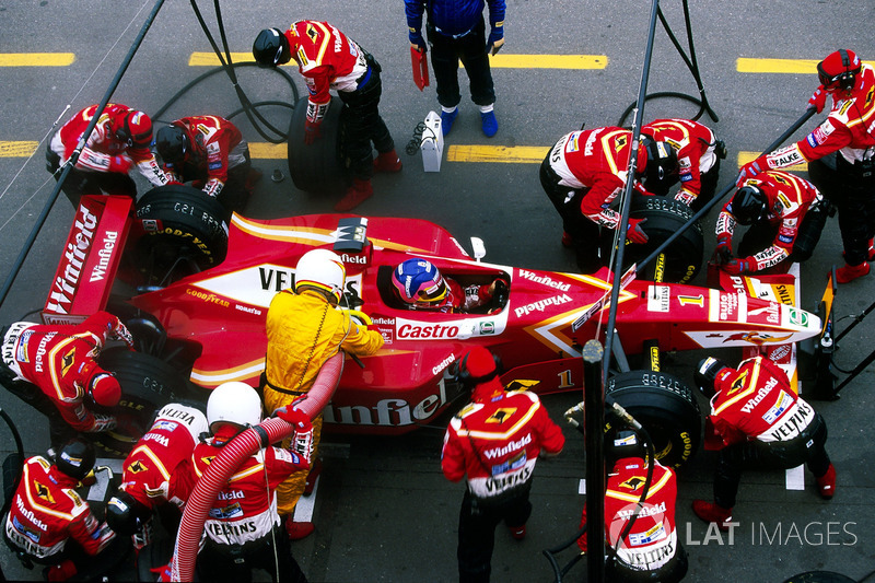 Jacques Villeneuve, Williams FW20, pit stop