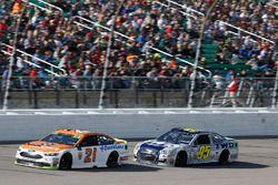 Ryan Blaney, Wood Brothers Racing Ford Michael McDowell, Leavine Family Racing Chevrolet