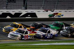Scott Lagasse Jr., Young's Motorsports Chevrolet Silverado, Johnny Sauter, GMS Racing Chevrolet Silv