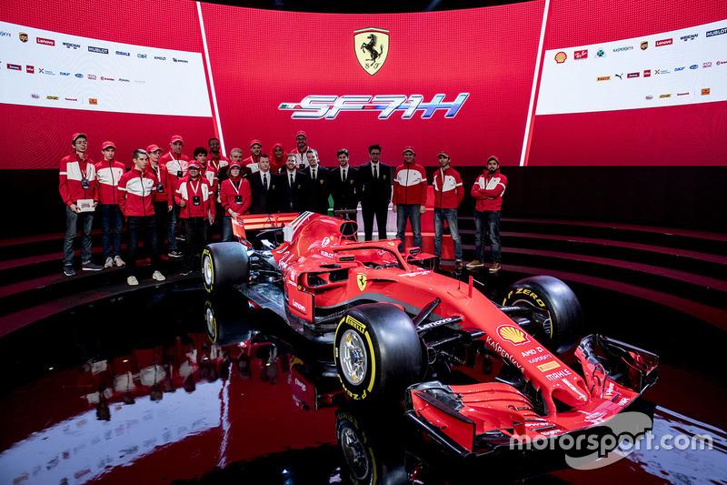 Presentación del Ferrari SF71H de 2018