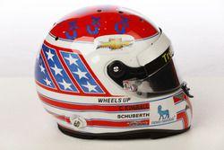 Helm von Charlie Kimball, Carlin Chevrolet