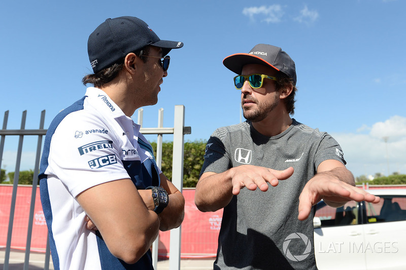 Felipe Massa, Williams y Fernando Alonso, McLaren