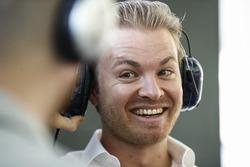 Nico Rosberg dans les stands