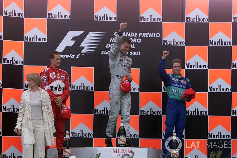 Le podium : Michael Schumacher, David Coulthard et Nick Heidfeld