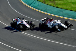 Charles Leclerc, Sauber C37 and Sergey Sirotkin, Williams FW41