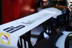 Porsche 911 GT3 Cup, dettaglio dell'alettone posteriore