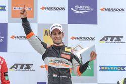 Podium, race winner, Jehan Daruvala, Carlin, Dallara F317 - Volkswagen