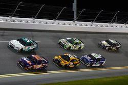 Denny Hamlin, Joe Gibbs Racing Toyota, Kasey Kahne, Hendrick Motorsports Chevrolet, Matt Kenseth, Joe Gibbs Racing Toyota
