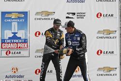 1. Graham Rahal, Rahal Letterman Lanigan Racing, Honda; 3. James Hinchcliffe, Schmidt Peterson Motor