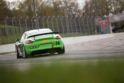 #14 Flying Lizard Motorsports Porsche Cayman GT4 Clubsport MR: Nathan Stacy