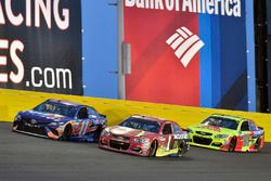 Denny Hamlin, Joe Gibbs Racing, Toyota; Jamie McMurray, Chip Ganassi Racing, Chevrolet; Dale Earnhar