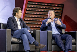 Jean Todt, FIA Başkanı, Alejandro Agag, Formula E CEO, Zak Brown, Motorsport Network Direktörü ve Avin Arumugam, SVP, Internet of Things, Visa