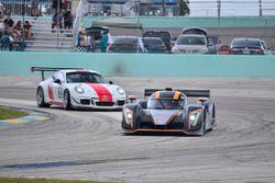 #57 FP1 Ginetta G57 driven by Mike Simpson & Giulio Borglenghi of Ginetta USA, #88 MP2A Porsche GT Cup driven by Carlos Crespo & Beto Monteiro of BRT