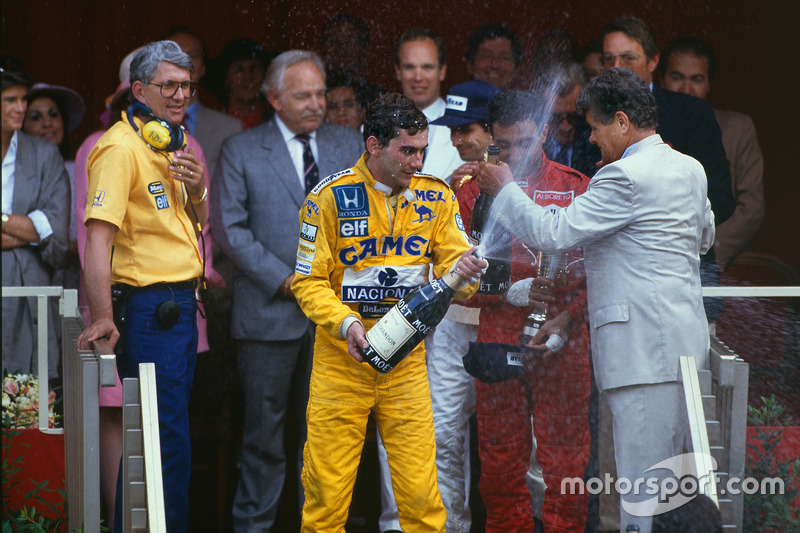 5. GP de Mónaco 1987: Ayrton Senna (Lotus) y Nelson Piquet (Williams)