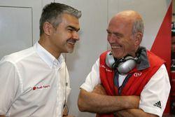 Dieter Gass, Hoofd Audi DTM en Dr. Wolfgang Ullrich, Hoofd Audi Sport