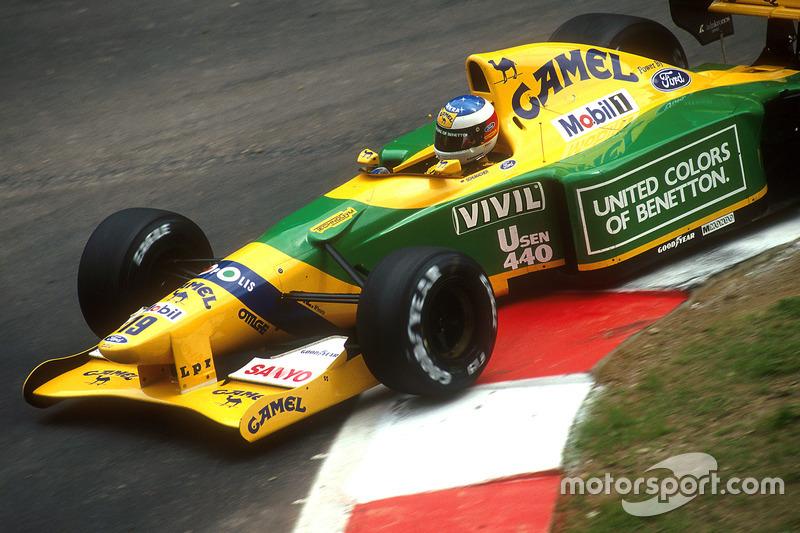 1992: Benetton - 3º lugar, 1 victoria, 53 puntos, 16 GPs