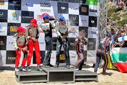 Podium: segundos, Jari-Matti Latvala, Miikka Anttila, Toyota Yaris WRC, Toyota Racing, Ganadores, Ot