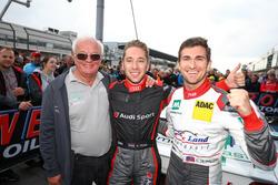 Gesamtsieger: Teamchef Wolfgang Land, Robin Frijns, Connor De Phillippi, Land Motorsport, Audi R8 LM