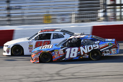 Kyle Busch, Joe Gibbs Racing Toyota and David Starr, BJ McLeod Motorsports Chevrolet