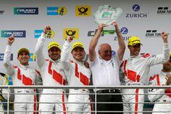 Podium: Wolfgang Land, Team principal Audi Sport Team Land-Motorsport and #29 Audi Sport Team Land-M