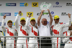 Podium: Wolfgang Land, Teambaas Audi Sport Team Land-Motorsport and #29 Audi Sport Team Land-Motorsp