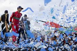 Podio: il secondo classificato Lucas di Grassi, ABT Schaeffler Audi Sport
