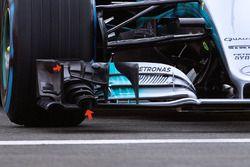 Mercedes AMG F1 W08 ön kanat detay
