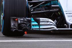 Détails de l'aileron avant de la Mercedes AMG F1 W08