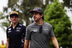 Fernando Alonso, McLaren, Max Verstappen, Red Bull