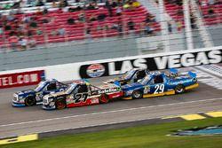 Christopher Bell, Kyle Busch Motorsports Toyota, Ben Rhodes, ThorSport Racing Toyota, John Hunter Ne