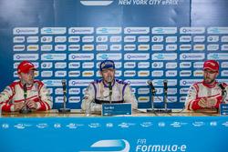 Conferencia de prensa: ganador Sam Bird, DS Virgin Racing, segundo lugar Felix Rosenqvist, Mahindra