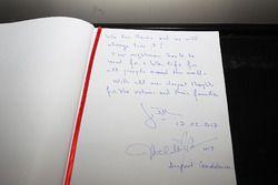 Jean Todt'un Reina anı defterine yazdıkları