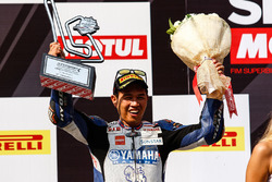 Podium: second place Decha Kraisart, Yamaha Thailand Racing Team