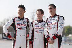 Kazuki Nakajima, Anthony Davidson, Sebastien Buemi, Toyota Racing