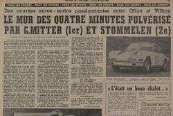 Tribune de Lausanne, articolo, record polverizzato