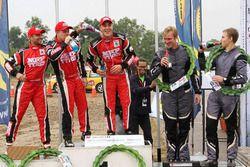 Podium: Winners Ole Christian Veiby, Stig Rune Skjærmoen, Team MRF, second place Gaurav Gill, Stéphane Prévot, Team MRF, third place Jari Ketomaa, Ville Mannisenmali, Mpart Sport