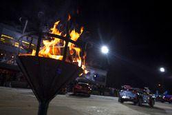 Lagerfeuer bei der Rallye Schweden